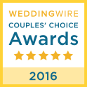 Wedding Wire Award Couples Choice 2016