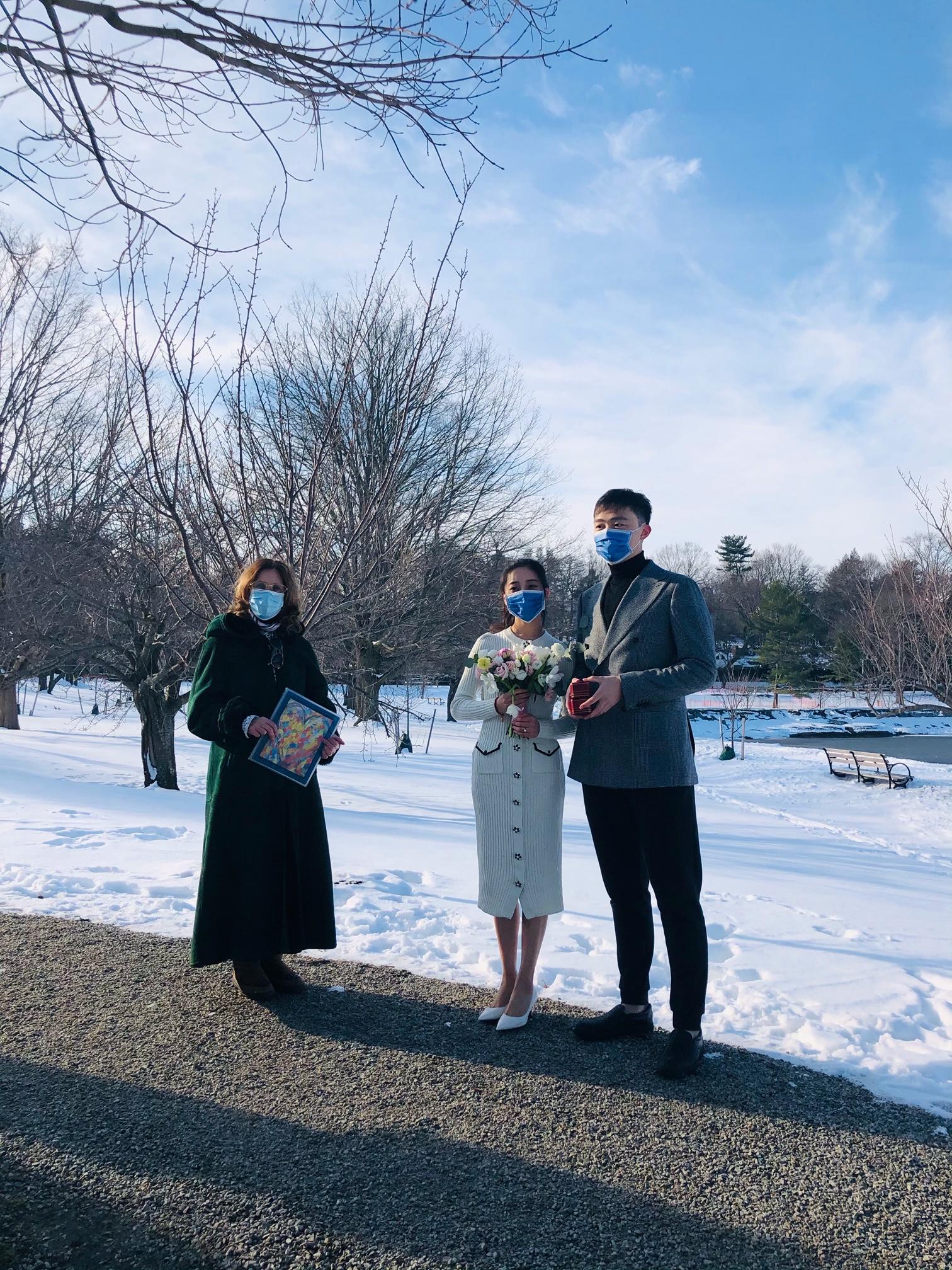 Brookeline Reservoir Wedding Ceremony